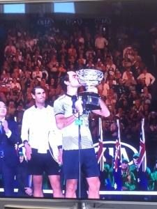 Roger won the Australian Open!