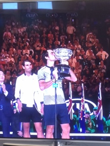 Roger won the Australian Open!