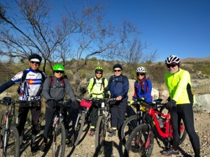 Mountain biking with a few other crazy people I call friends!